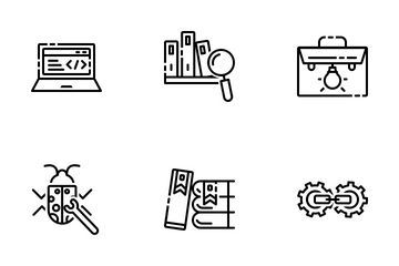 SEO And Marketing 2 Line Icon Pack