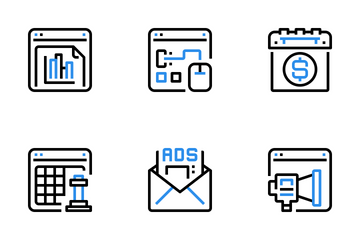 Seo And Online Marketing  Icon Pack