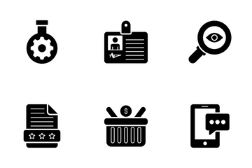 SEO And Web Glyph Icons Icon Pack