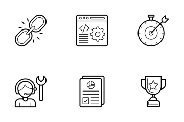 SEO And Web Line Vector Icons Icon Pack