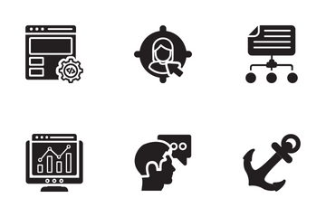 Seo And Web Optimization Glyph Icons Icon Pack