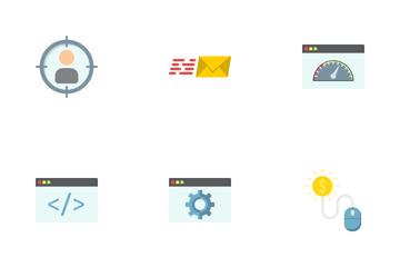 SEO & Development Flat Icons Icon Pack