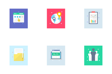 SEO & Digital Marketing Icon Pack