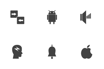 SEO Glyph Black Icon Pack