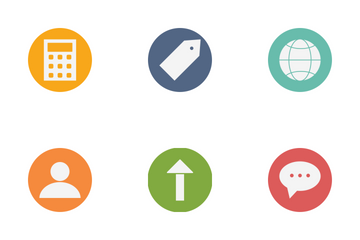 Seo Glyph Circle Icon Pack