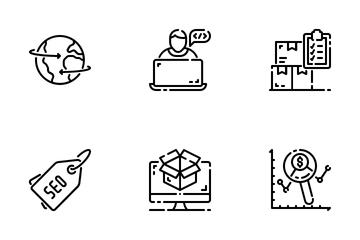 Seo Internet Marketing Icon Pack
