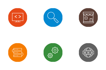Seo Line Circle  Icon Pack
