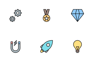 Seo Line Filled Icon Pack