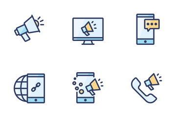 Filled Outline SEO & Marketing Icon Pack