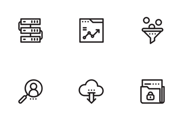 SEO Marketing LineArt Icon Pack