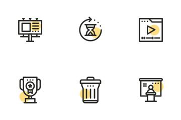 SEO Marketing Shape Icon Pack