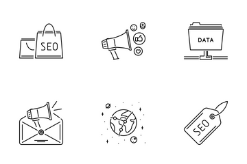 SEO Outline Icon Pack