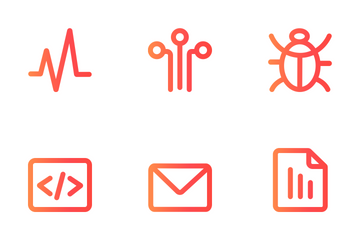 SEO Pack 1.1 : Super Basic Icon Family ( Orange Gradient )  Icon Pack