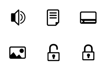 SEO & Web Glyph Set Icon Pack