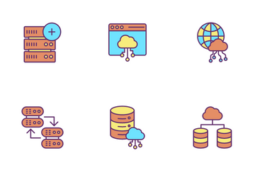 Server And Hosting Icon Pack