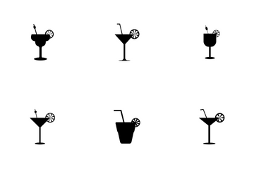 Set Of Cocktail Icon Icon Pack