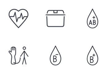 Blood Donation Icon Pack