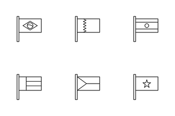 Set Of Flags Icon Pack