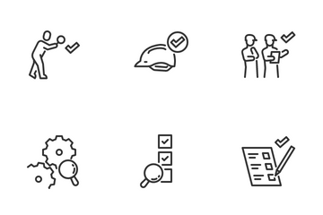 Set Of Inspection And Examination Related Icon Pack