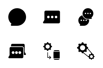 Setting And Chatting Icon Pack