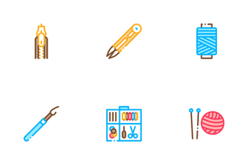 Sewing And Needlework Icon Pack