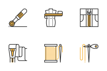 Sewing Equipment Icon Pack