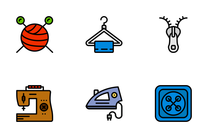 Sewing - Retro Icon Pack