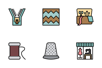 Sewing Tools & Accessories Icon Pack