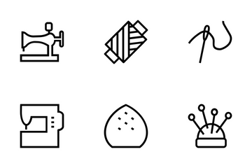 Sewing Vector Icons Icon Pack