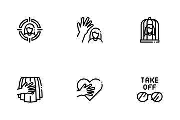 Sexual Harassment Icon Pack