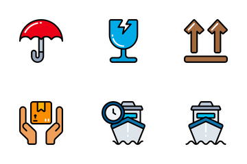 Shipping & Delivery - Bright Fill Icon Pack