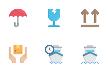 Shipping & Delivery - Flat Icon Pack