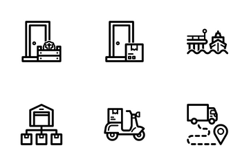 Shipping Logistics Icon Pack