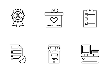 Shopping And Commerce 1 Icon Pack