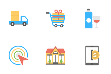 Shopping And Commerce 5 Icon Pack