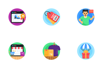 Shopping And Commerce Activities Icon Pack