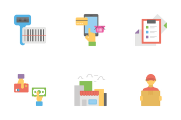 Shopping And Commerce Flat Icons  Icon Pack