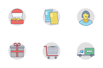 Shopping And Commerce Flat Rounded Icons 1 Icon Pack