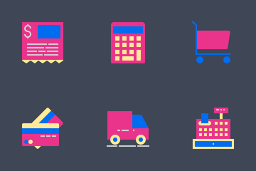 Shopping And Ecommerce Flat Icon Pack