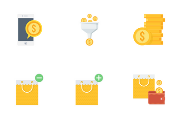 Shopping And Financial Part 3 Icon Pack