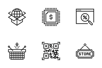 Shopping And Retail Vol 1 Icon Pack