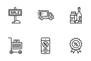 Shopping And Retail Vol 2 Icon Pack