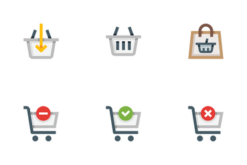 Shopping Carts And Baskets Icon Pack