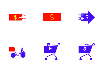 Shopping Colour Icon Pack