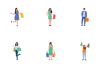 Shopping People Icon Pack