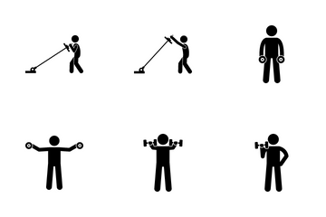 Shoulder Exercise Icon Pack