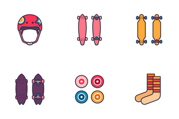 Skateboard Icon Pack