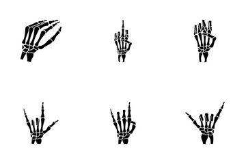 Skeleton Hands - Solid Icon Pack