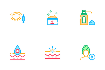 Skin Care Cosmetic Icon Pack