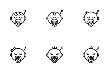 Sleeping Baby Icon Pack